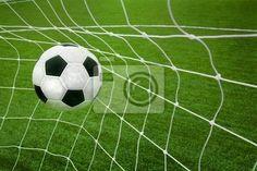 Wall Mural goal. a soccer ball in a net. - sport • PIXERSIZE.com