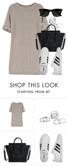 """Style #11019"" by vany-alvarado ❤ liked on Polyvore featuring adidas and Ray-Ban"
