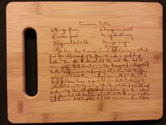 Custom engraved cutting board for The Brown's from 3dcarving on Etsy