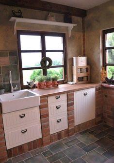 mimibazar – Wine World Rustic Kitchen Design, Shabby Chic Kitchen, Country Kitchen, Kitchen Shop, Studio Kitchen, Kitchen Interior, Kitchen Decor, Outdoor Fireplace Designs, Kitchen Organisation