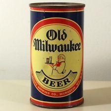 Old Milwaukee Beer Flat Top WAITER Can! Jos Schlitz Brewing Milwaukee WI 107-20
