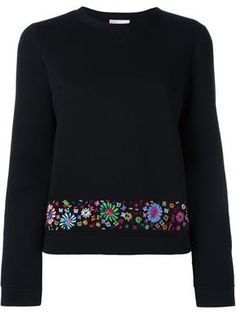 cbc2b5237e5d90 Red Valentino Embroidered Hem Jumper - Farfetch