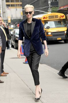 Tilda Swinton Attempts to Blend in With the Humans