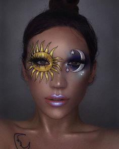 Pinterest: @MagicAndCats ☾ sun and moon makeup