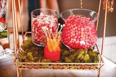 Wonderlandia Candy & Dessert Display /  pink and orange candy