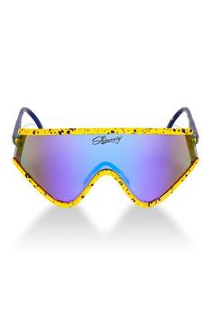 54af2f637e The Macho Man Randy Savage Yellow Spatter Sunglasses