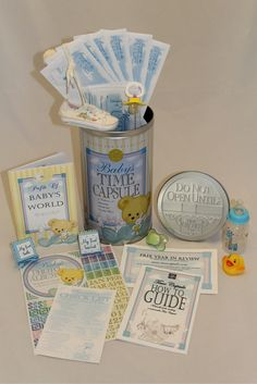 $44.95 FREE Shipping MUST HAVE Baby Shower Gift -- Most Unique -- Heartfelt. Put Baby's First shoes, pacifier, first tooth and lock of hair in their own Baby Time Capsule. Open when your child graduates High School. www.timecapsule.com