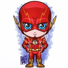 Chibi the flash by lordmesa