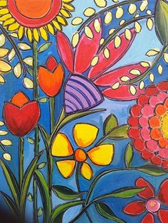 easy spring paintings on canvas Spring Painting, Flower Doodles, Arte Pop, Whimsical Art, Art Plastique, Oeuvre D'art, Doodle Art, Painting Inspiration, Painted Rocks
