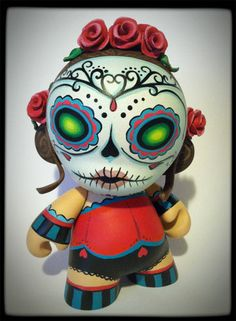 Day of the dead mini munny by MaloApril