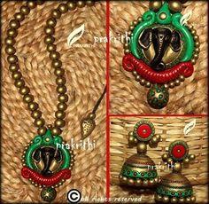 Terracotta jewellery - Prakrithi Necklace