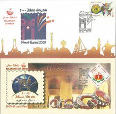 Oman 2 special covers:Muscat Festival 2000 UN Anti-Drug , Muscat Festival 2005