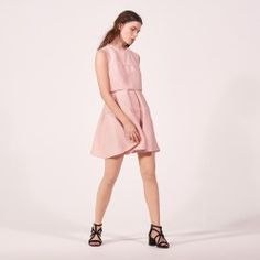 SS17-spring-summer-2017-fashion-blog-bogger-blogueuse-belge-trends-pink-party-french-brand-sandro-paris-dress-2-in-1