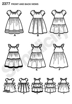 Childs easy to sew dress Sewing Pattern 2377 Simplicity