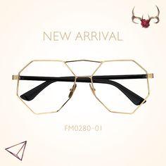 da42766a6bf Avital Geometric Glasses FM0280-01 Face Framing