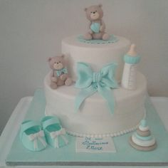 Baptism cake for boy