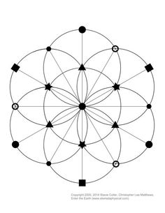 Interested in making a crystal grid?  This is a Seed of Life based template…