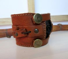 Mens leather cuff Everyday accessorie for men Handmade by So cliché jewelry  https://www.facebook.com/soclichejewelry