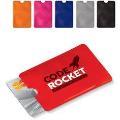 Innovatieve giveaway: Bedrukte kaarthouder anti-skimming (soft case) Giveaways, Usb Flash Drive, Coding, Programming