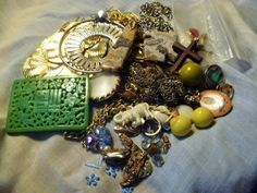 Jewelry Craft Lot Stone Necklaces Charms by GMJvintage1 on Etsy, $10.00
