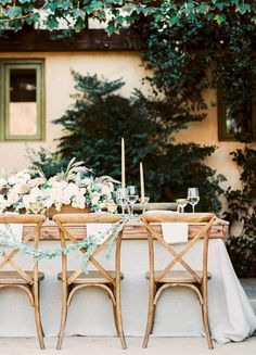 Photography : Sally Pinera | Floral Design : Heirloom Design House | Event Planning + Design : Smith And James Events | Event Styling : Kelly Oshiro Read More on SMP: http://www.stylemepretty.com/2016/01/15/ojai-winter-wedding-inspiration-pear-brandy-champagne-cocktail/