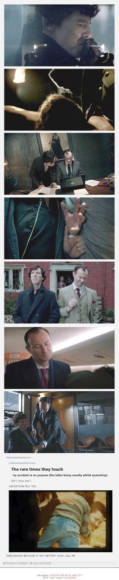 Mycroft & Sherlock == >>> that's okay, I wasn't using my heart anyway.