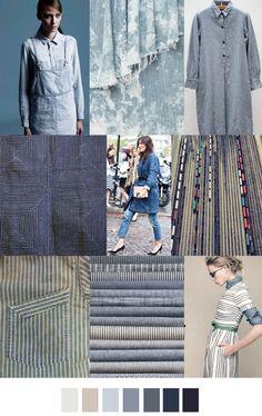 ALL ABOARD, fashion mood board / trend / color                                                                                                                                                     More