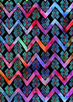Diamond Chevron - Pop Art Print by SchatziBrown