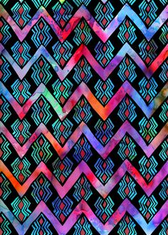 Diamond Chevron - Pop Art Print by SchatziBrown