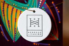 Brand identity and letterpress product tag for Mexican designer gift shop Hermoso Cariño by La Tortilleria, Mexico