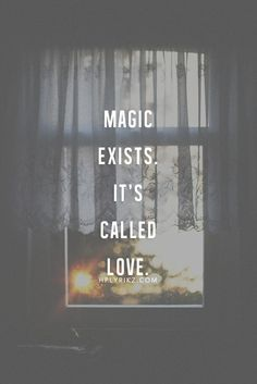 Magic exists, it's called love. http://www.calmdownnow.com