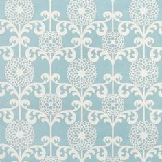 Waverly Fun Floret Spa Fabric - Image 1