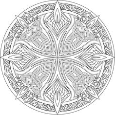 Creative Haven Celtic Mandalas Coloring Book @ Dover Publications Pattern Coloring Pages, Free Adult Coloring Pages, Mandala Coloring Pages, Colouring Pages, Coloring Books, Celtic Mandala, Celtic Art, Mandala Art, Celtic Patterns