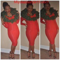 Candy apple holiday dress www.miystasiastyle13.com HAPPY HOLIDAYS EVERYONE!! ⛄️❄️