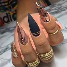 Coffin Nails Designs Trends Nail Art Ideas 2019 - Page 21 of 58 - hairstylesofwomens. Aycrlic Nails, Chic Nails, Dope Nails, Glam Nails, Stylish Nails, Fancy Nails, Nail Nail, Coffin Nails, Fabulous Nails