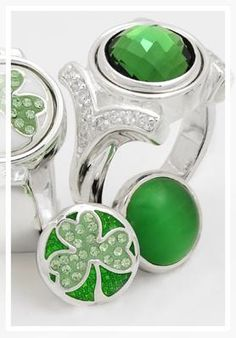 Kameleon Rings and Green JewelPops perfect for St. Patrick's Day!