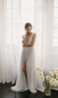 Alexandra Grecco Savannah open back lace wedding dress Stunning Wedding Dresses, Wedding Dresses For Sale, Designer Wedding Dresses, Beautiful Gowns, Wedding Gowns, Lace Wedding, Dream Wedding, Chic Wedding, Beautiful Things