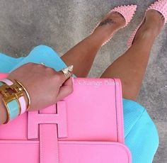 Hermes bracelets and Louboutins! My summer staple.