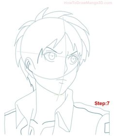 Learn how to draw Eren Yeager from Attack on Titan AKA Shingeki no Kyogin today! ^_^ Eren is the main character of this popular Manga and Anime series and he guards a terrible secret! Drawing Course, Drawing Base, Manga Drawing, Anime Character Drawing, Popular Manga, Eren, Anime Drawings Sketches, Beyblade Characters, Attack On Titan Anime