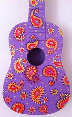 Paisley Painted Ukulele by BeesCuriosityShoppe on Etsy