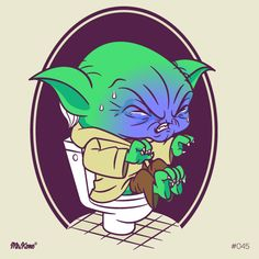 #Yoda #StarWarsDay #45/#365Rounds #MrKone #Illustration#CharacterDesign #AdobeIlustrator #Wacom