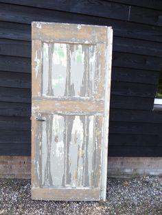 Oude brocante deur retro vintage look deuren