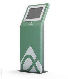 Visualization touch kiosk Digital Kiosk, Digital Signage, Kiosk Design, Loft Interiors, Branding, Ipad Stand, Retail Interior, Exterior Design, Collage Pictures