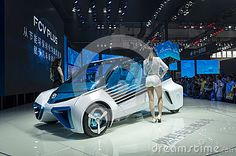 TOYOTA FCV PLUS concept Fuel Cell car show in 2016 Beijing International…