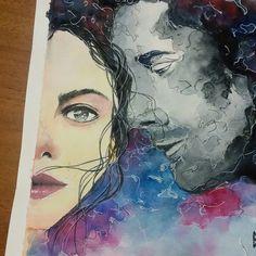 instagram betdemka   watercolor portrait illustration