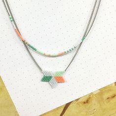 Nouveau collier #jenfiledesperlesetjassume #miyuki #brickstitch