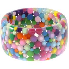ASOS Trapped Multi Coloured Balls Bangle ($14) ❤ liked on Polyvore featuring jewelry, bracelets, accessories, fillers, bangles, jewellery wobracelets, womenswear, multi color bracelet, ball bracelet and bracelet bangle