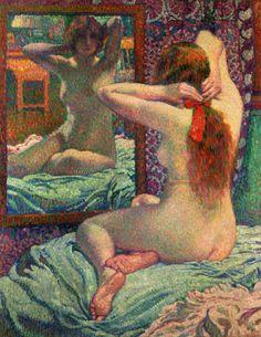 Théo van Rysselberghe - The Scarlet Ribbon (Le Ruban écarlate) Edouard Vuillard, Manet, Figure Painting, Painting & Drawing, Théo Van Rysselberghe, Post Impressionism, Oil Painting Reproductions, Art Moderne, Erotic Art