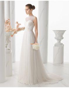 Halle Frühling 3/4 Arm Brautkleider 2015