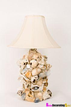 DIY seashell lamp